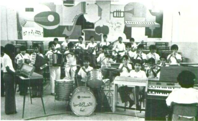 مدارس الثغر. جدة. حصة موسيقى. الستينات الميلادية.