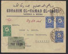 ابراهيم الحمد الصنيع جدة ومكة ١٩٣٢ مع المانيا