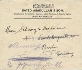 السيد أسدالله الحسيني الهندي ١٩٣٢ جدة الى برلين